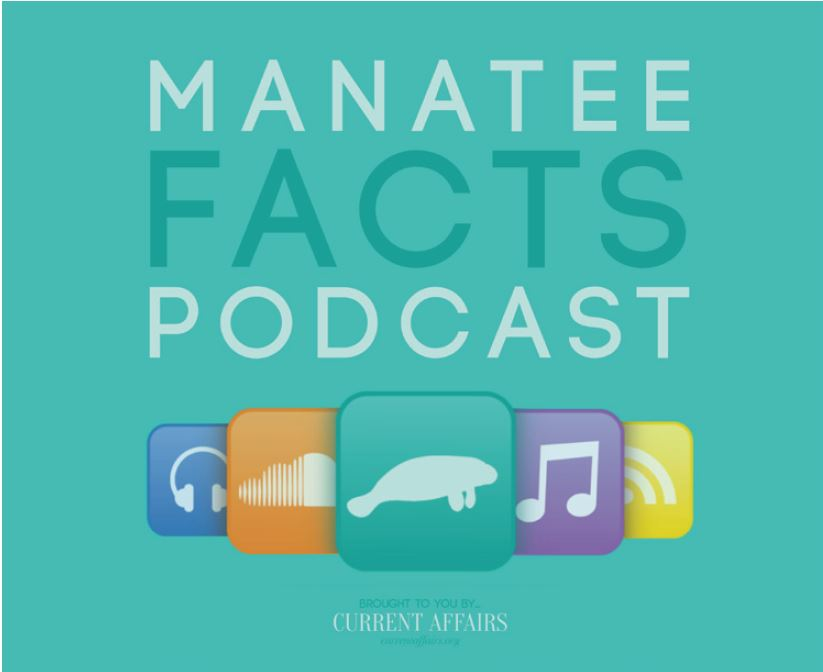 Sticker: Manatee Facts Podcast